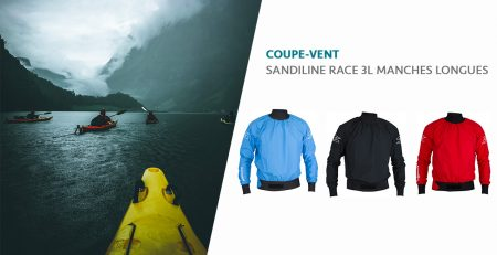 coupe-vent kayak rafting voile